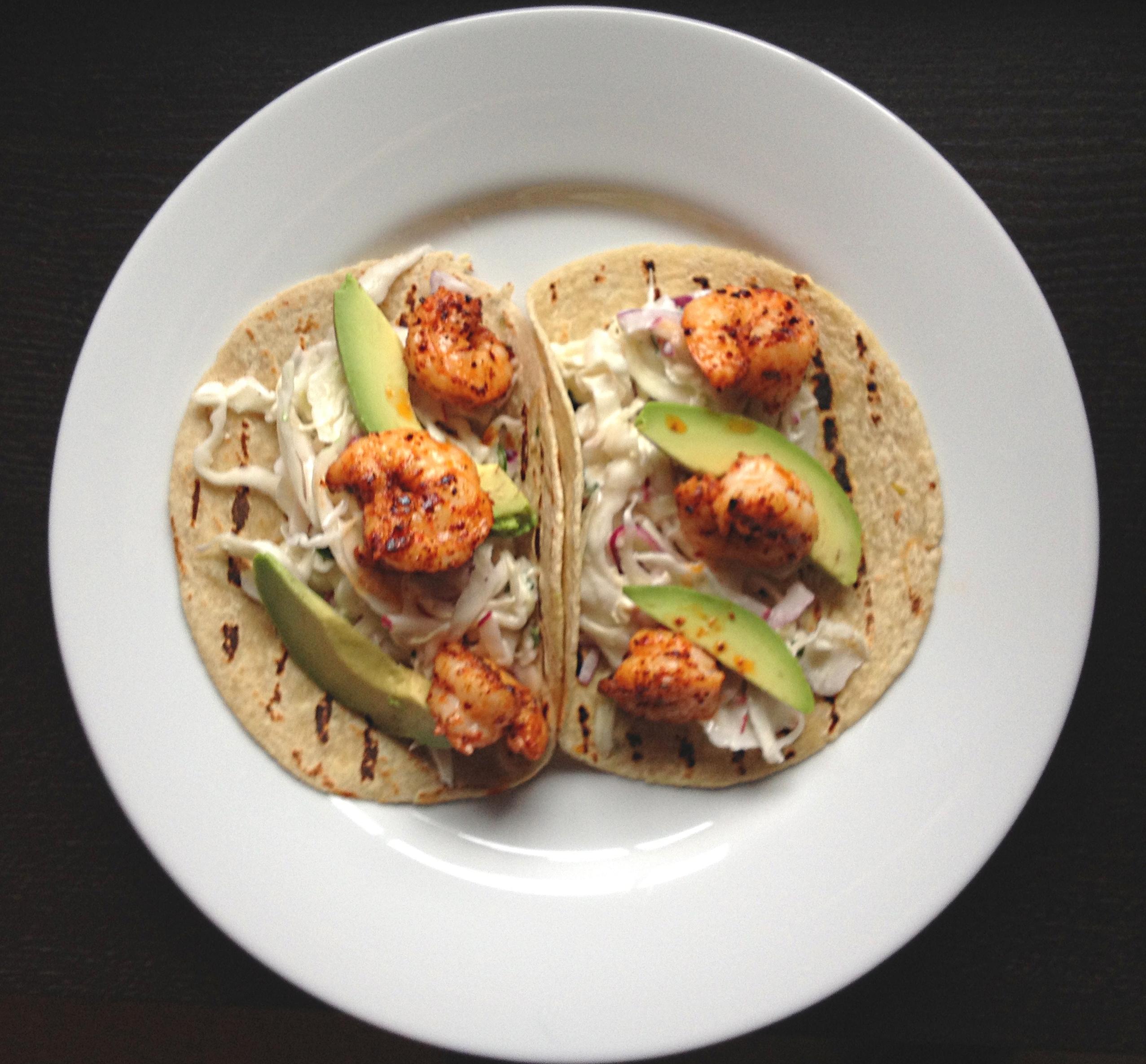 ancho shrimp tacos