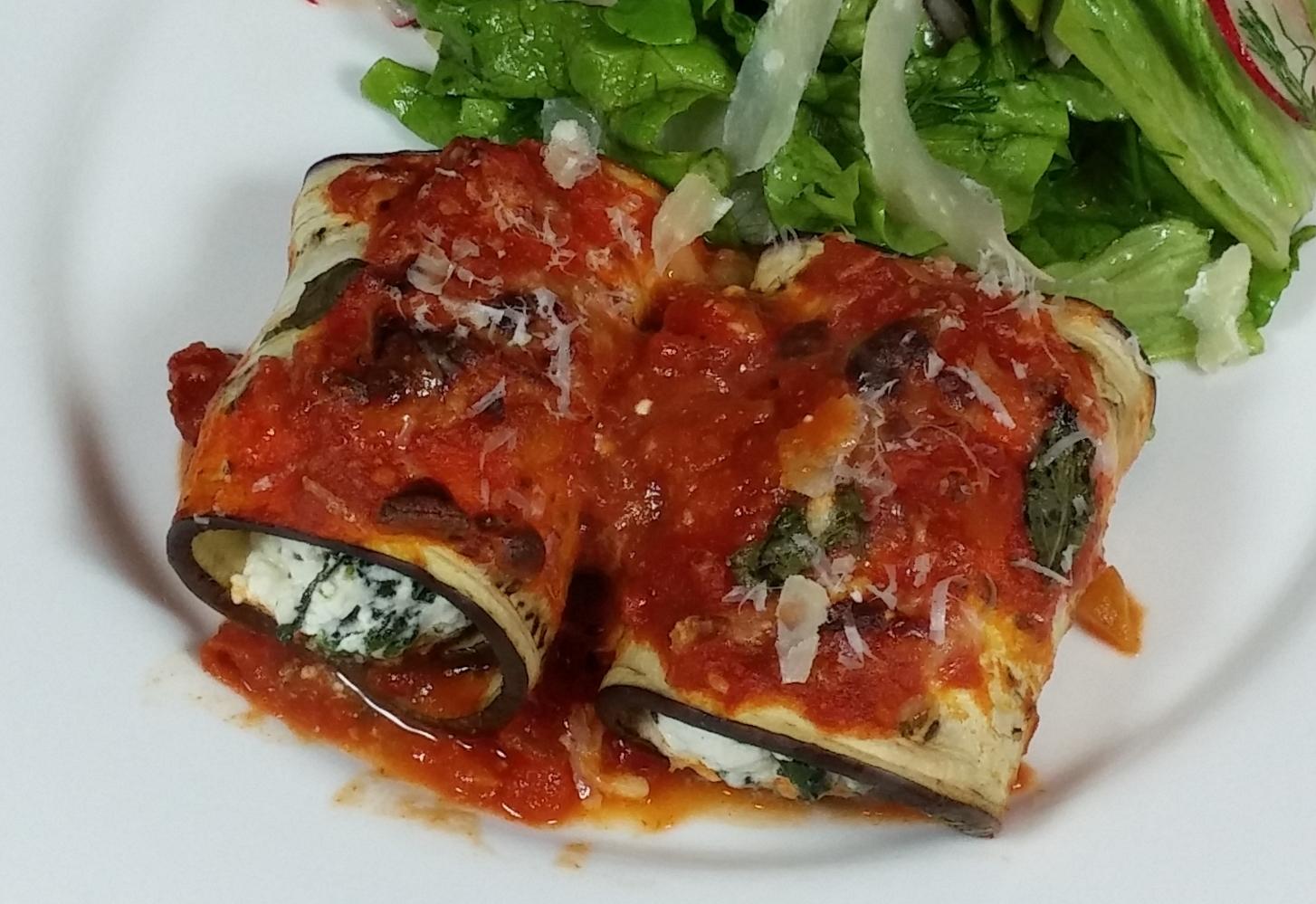 eggplant rollatini cooked